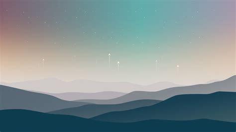 wallpaper landscape minimal stars cold hd  creative graphics  wallpaper