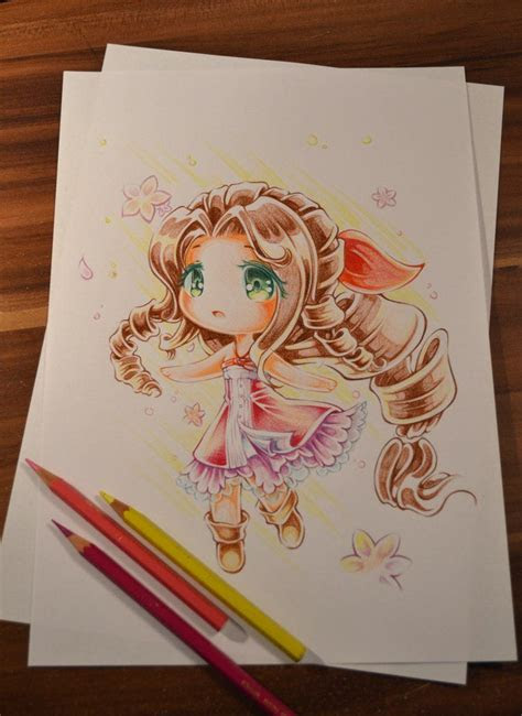 loving memory  aerith   couldnt wait  draw