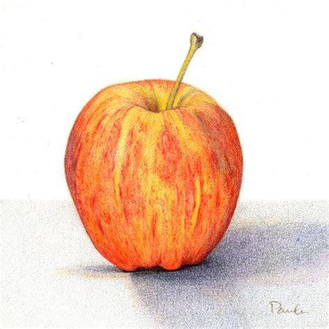 colored pencil apples images  pinterest