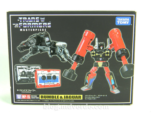 Transformers Rumble & Jaguar Masterpiece - caja