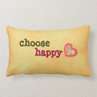Choose Happy Quote Pillow