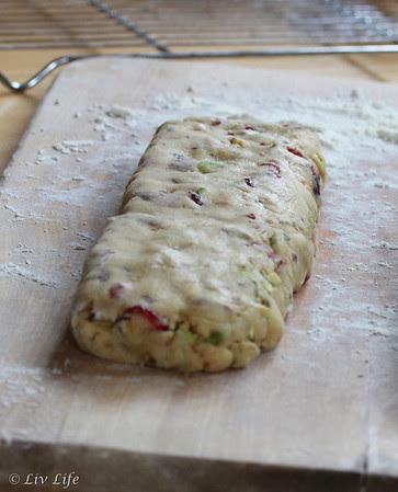 Rustic Orange Pistachio Biscotti with Cranberries
