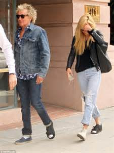rod stewart   daughter ruby sport matching foot