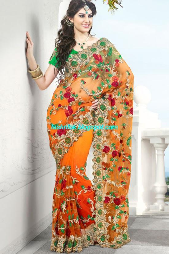 Indian-Brides-Bridal-Wedding-Fancy-Embroidered-Saree-Design-New-Fashion-Hot-Sari-Dress-12