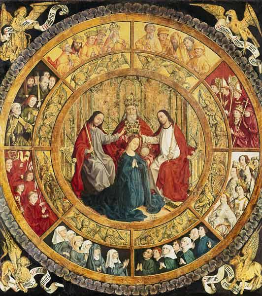 französisch Handschrift - Coronación de María por la santa trinidad