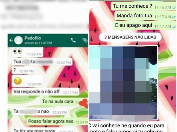 Mãe fingiu ser o filho para suspeito de pedofilia ser preso em PE (Foto: Divulgação/Polícia Militar)