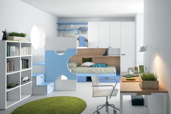 jugendzimmer gestalten modern schwarz weiß streifen