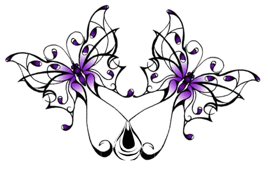 Double Butterfly Tattoo Design Clip Art Library