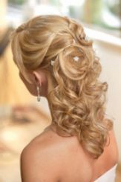 Half Up Down Hairstyles For Medium Length Hair Wedding - Easy ...