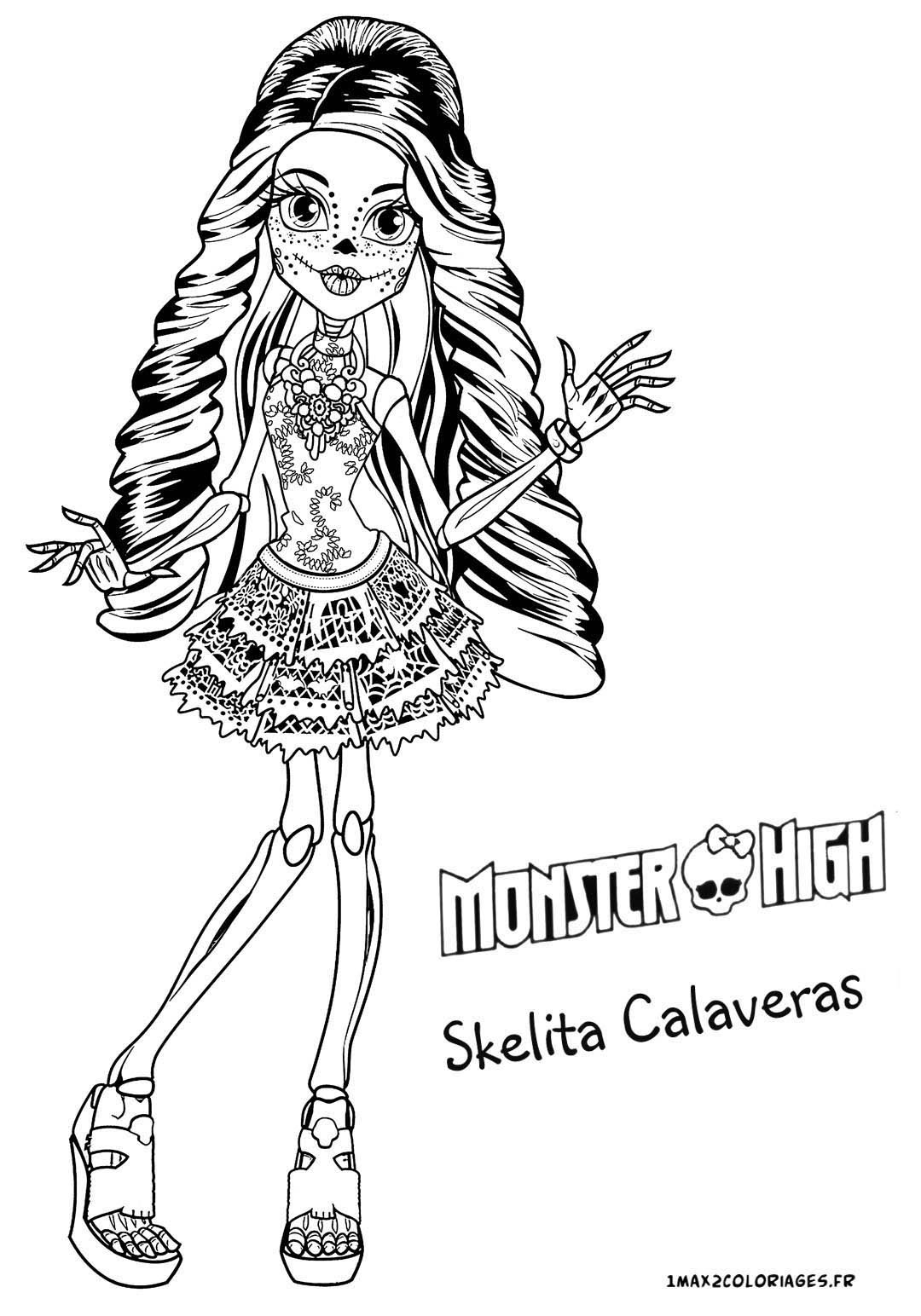 jinafire monster high coloring pages photo 22