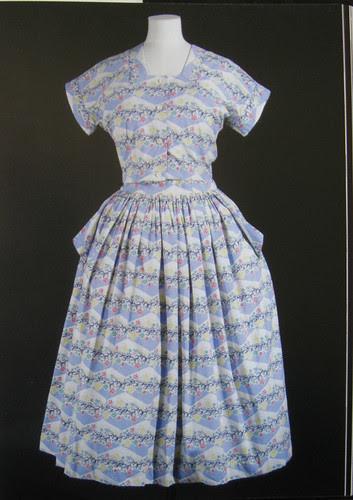 book blue 2-piece dress