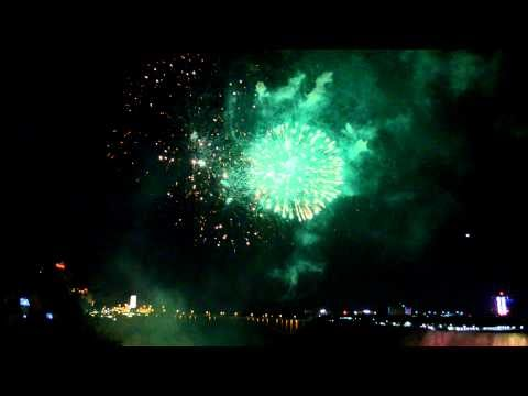 Fireworks at Niagara Falls on Memorial Day weekend 2012