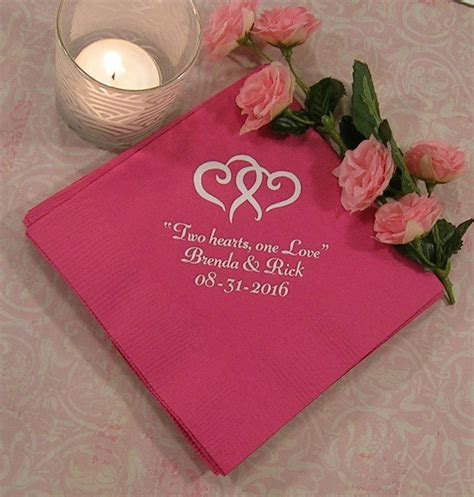 Wedding Napkins Personalized Personalized Napkins Wedding