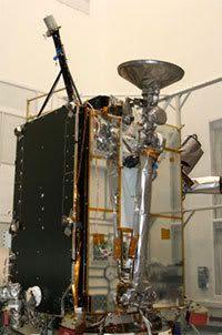 At NASA's Goddard Space Flight Center in Greenbelt, Maryland, the Lunar Reconnaissance Orbiter spacecraft undergoes final assembly on June 12, 2008.