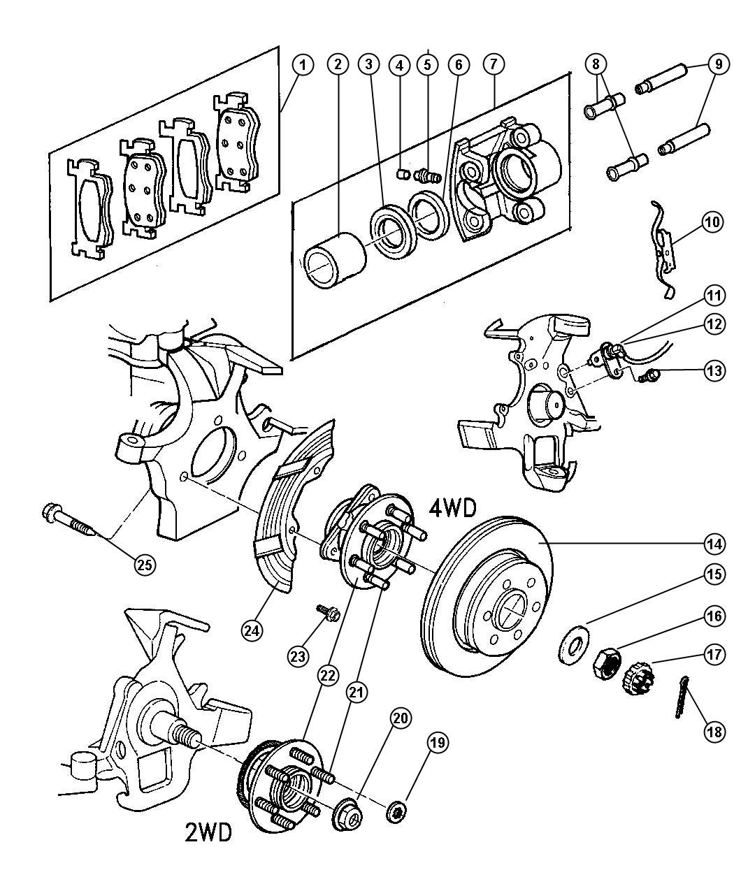 2001 Dodge Ram 1500 4x4 Front Axle Diagram