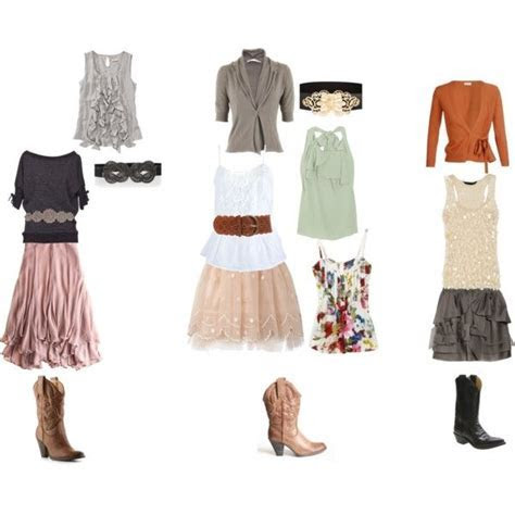 fun outfits for the rodeo or shabby country wedding what