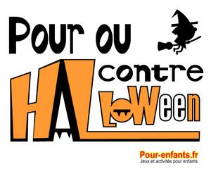Dessin d'Halloween Pour ou contre