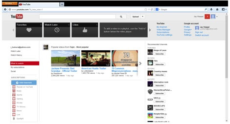 créer une chaîne YouTube