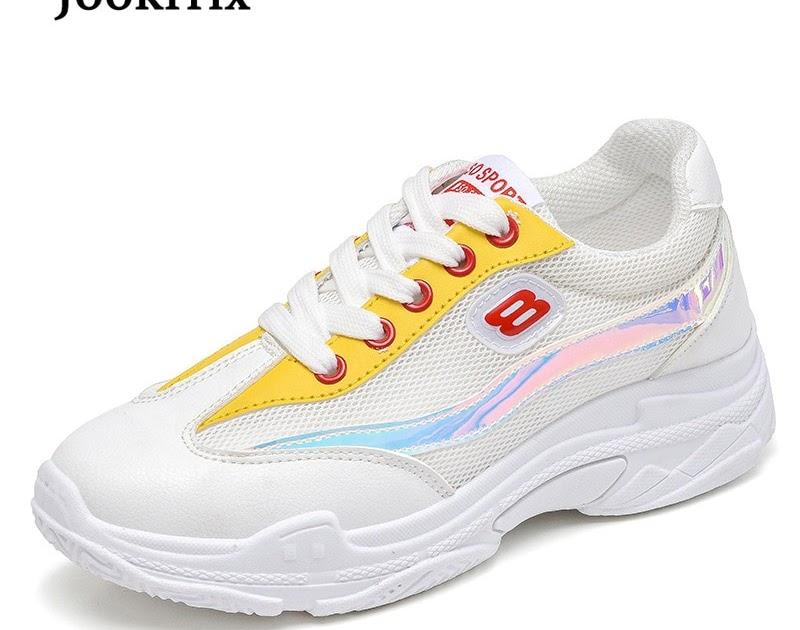 5f6e2727a Comprar Jookrrix 2018 Outono Marca De Moda Senhora Sapatos Plataforma Casuais  Mulheres Menina Lazer Sneaker Respirável Malha Calçados Femininos Baratas  ...