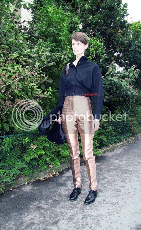 Saskia de Brauw wearing Haider Ackermann runway pants