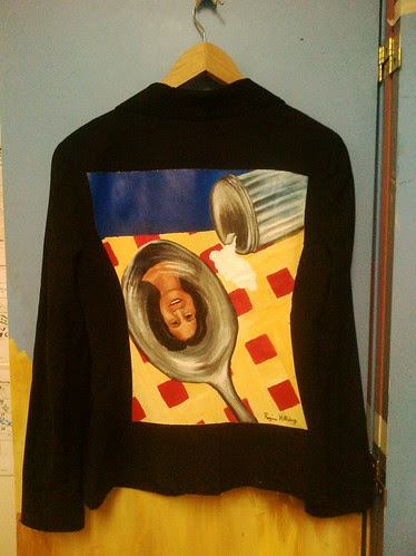 """Upside down and backwards"" a jacket for Michelle Lichman"