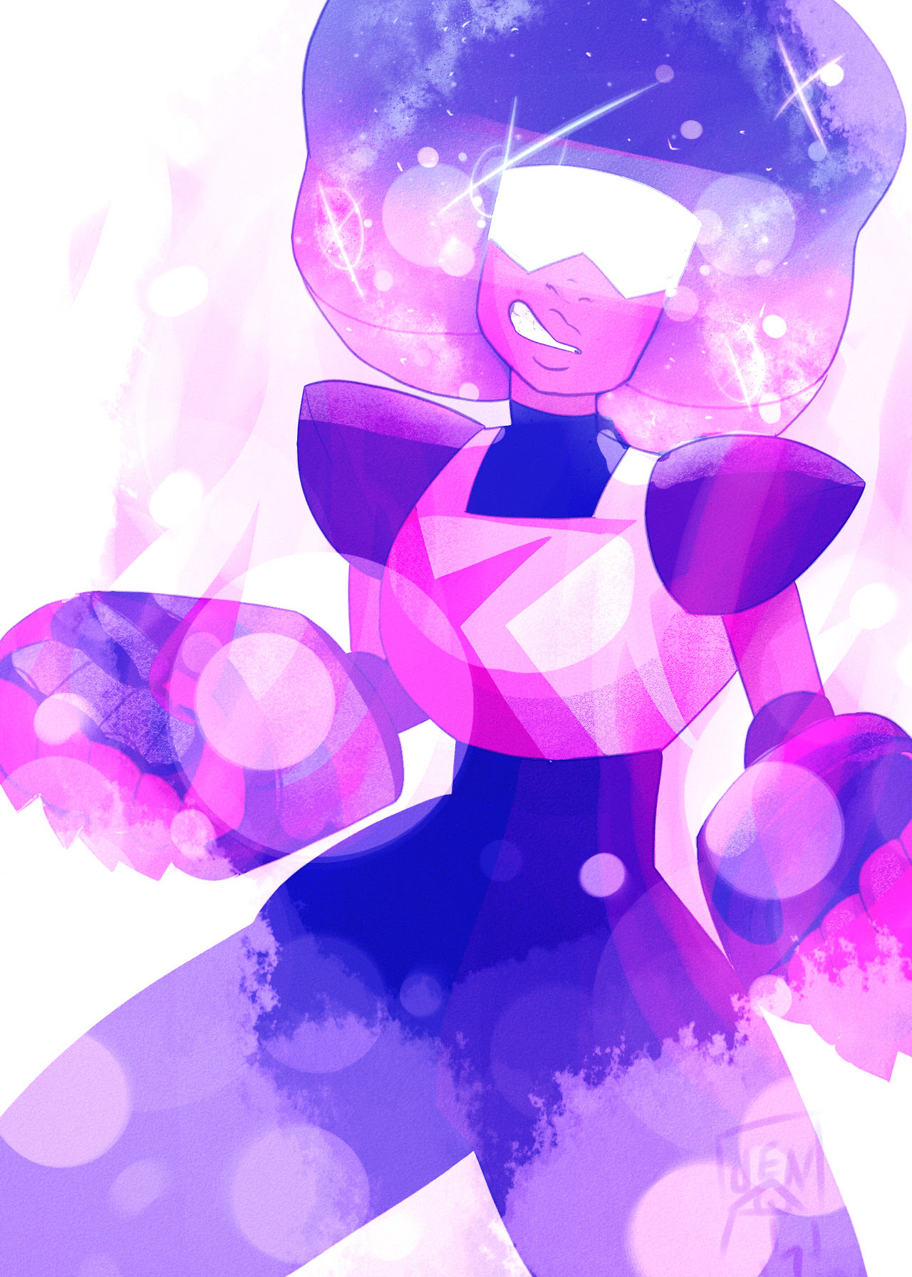First drawing on my new cintiq is a Galaxy Garnet because she's oUTA THIS WORLD