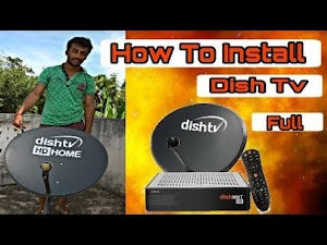 dish tv antenna setting How to Install a Satellite Dish Dish TV installation Part-1 Technical Ani