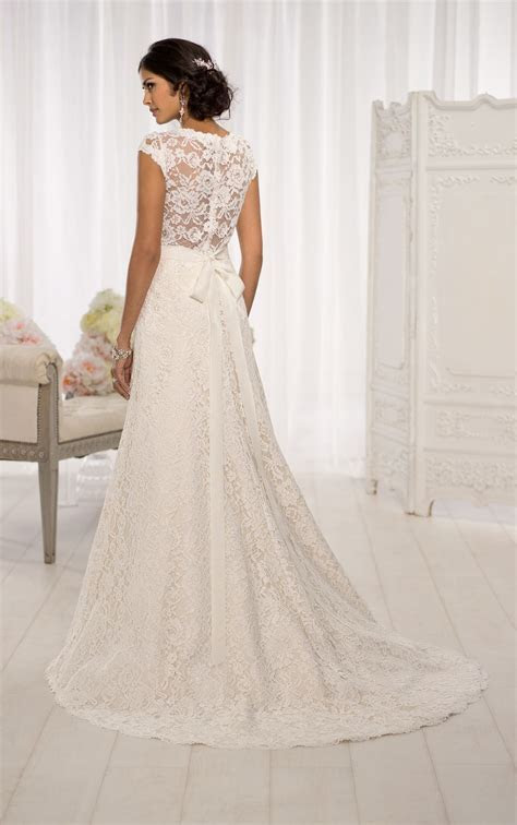 Cap Sleeve Wedding Dress by   Future Wedding   Wedding