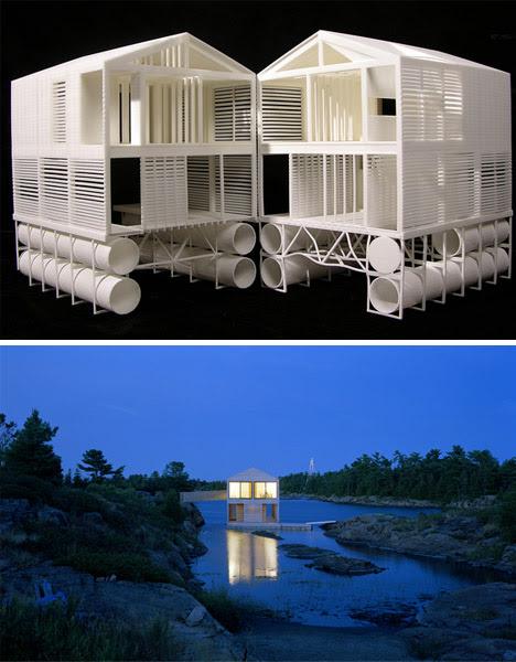 Una casa realmente moderna y en el agua