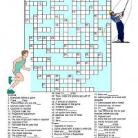 Sports Crossword On Free Printable Puzzles Freeprintable Com