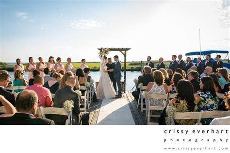 Maritime Museum Dock Wedding Ceremony on Long Island