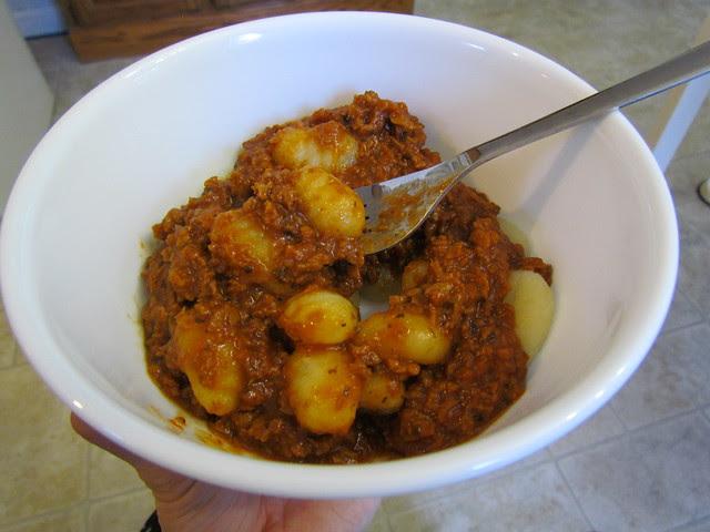 Potato Pasta & Veggie Crumbs