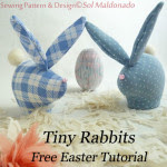 Coniglietti in stoffa DIY e Cartamodello