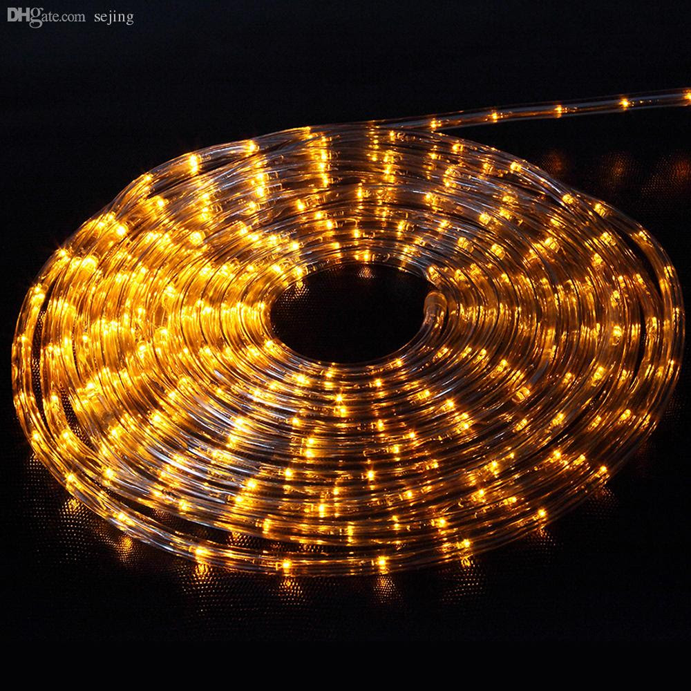 Wholesale 10mled Flexible Rope Light Indoor / Outdoor Lighting, Garden Patio Christmas New Year