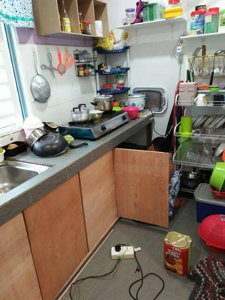 Cuma 2 Minggu Siapkan DIY Pintu Kabinet Dapur  Bajet Kata
