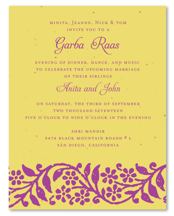 Raas Garba Invitations