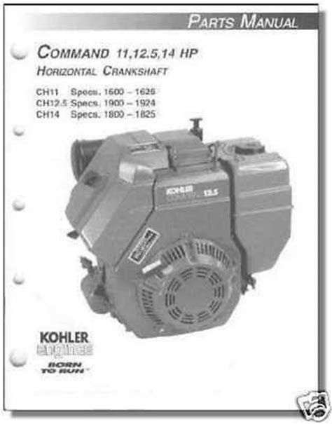 TP-2401-B PARTS Manual KOHLER Engine For CH11-CH14 – Randy