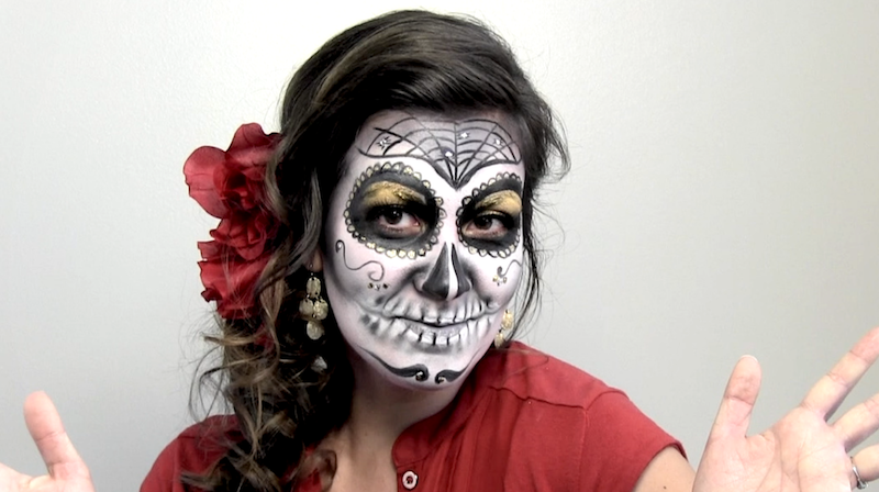 Watch This Stunning Día De Los Muertos Face Painting Texas Public