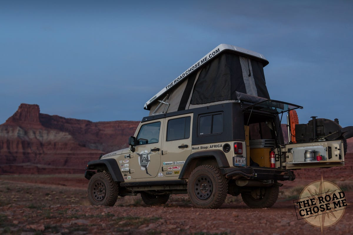 As a trial I did a couple of weeks camping and off-roading around Moab, Utah. The popup has completely transformed the Jeep into something completely different.