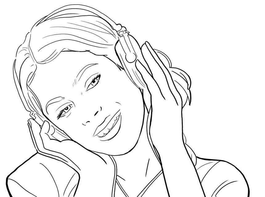Coloriage A Imprimer Violetta Sur Disney Channel Ancenscp