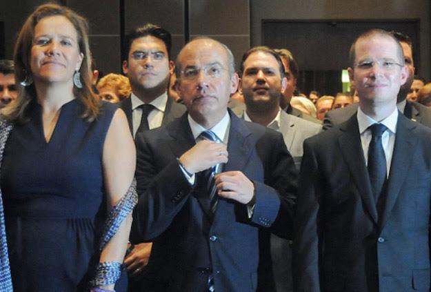 Margarita Zavala, Felipe Calderón y Ricardo Anaya.