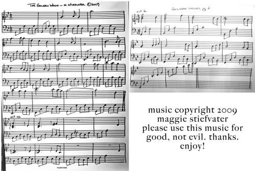 Sheet Music, the Golden Woods