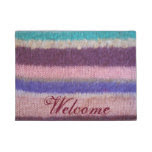 fun shabby chic colorful knitted striped doormat