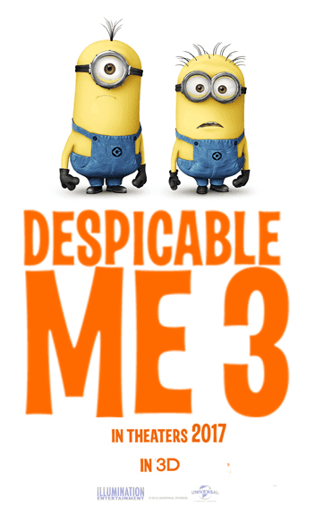 Despicable Me 3D English Animation Film Poster
