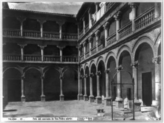 Patio del Convento de San Pedro Mártir en el siglo XIX. Fotografía de Jean Laurent