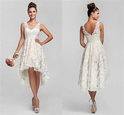 short sexy  neck whiteivory lace wedding dress bridal