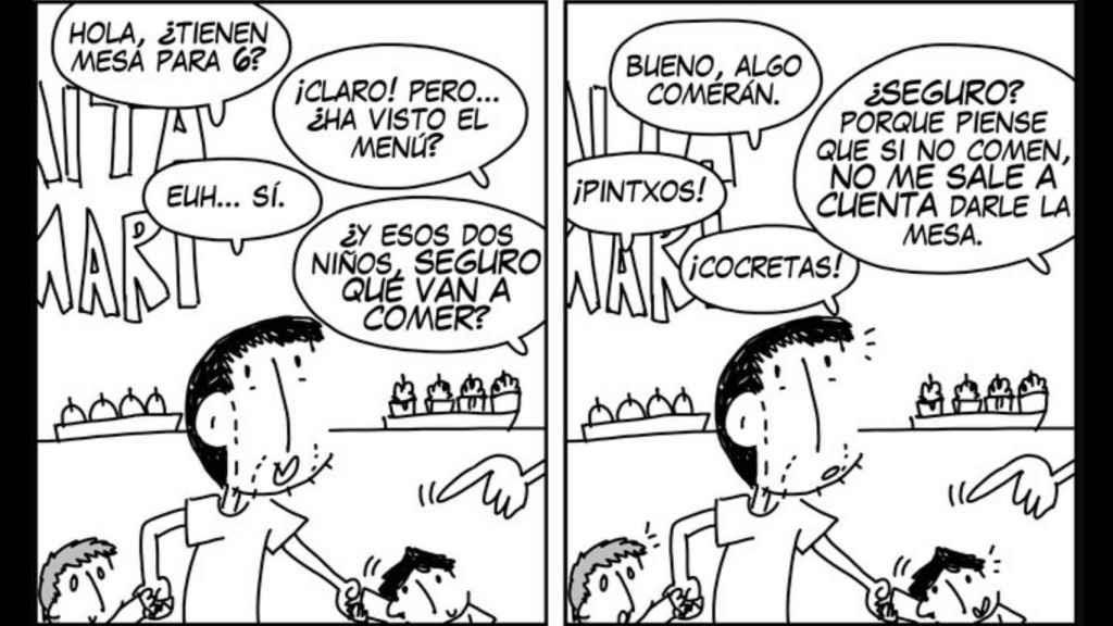 El cómic con el que Andrés Palomino denunció el incidente de Aita Mari.