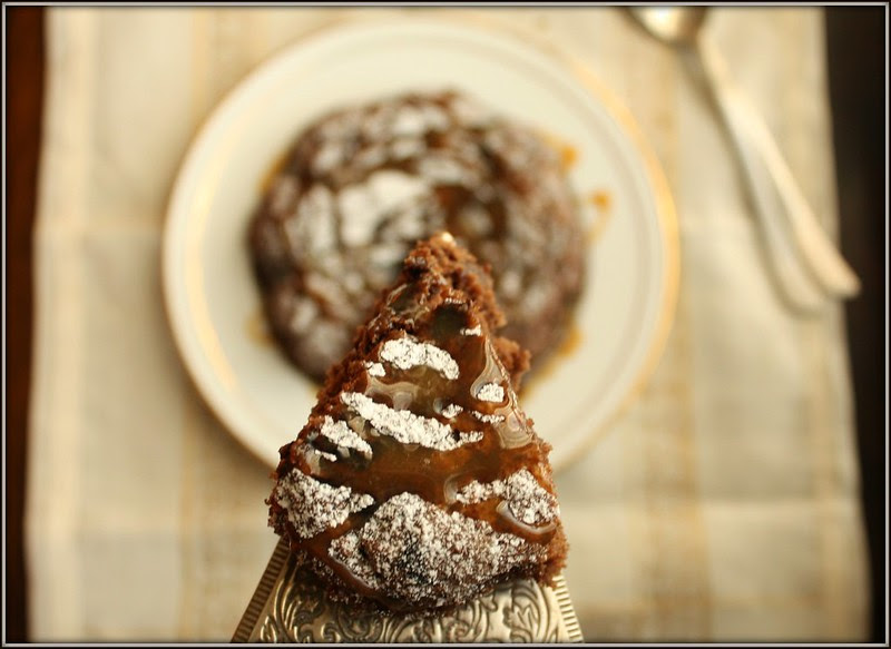 chocolate pudding slice