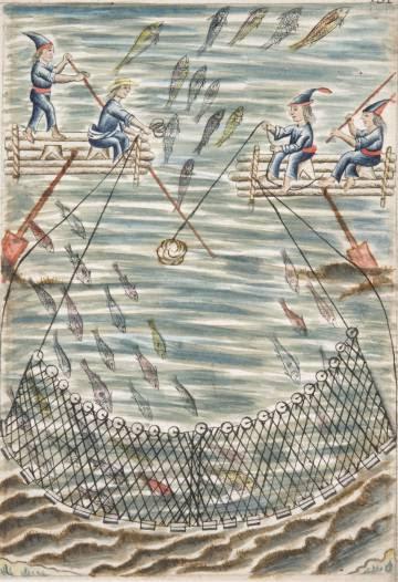 Fragmento de una de las acuarelas del llamado códice Trujillo.