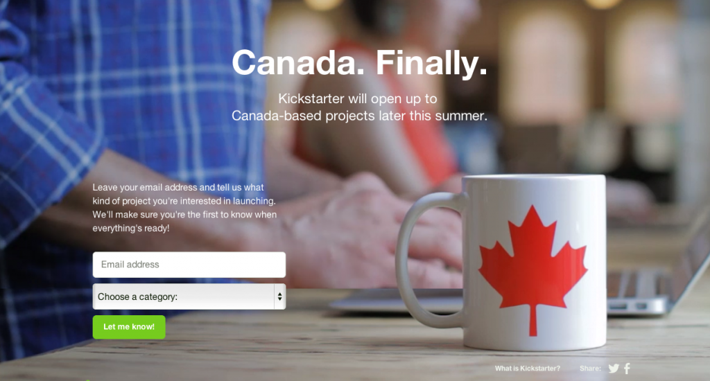Canada Kickstarter